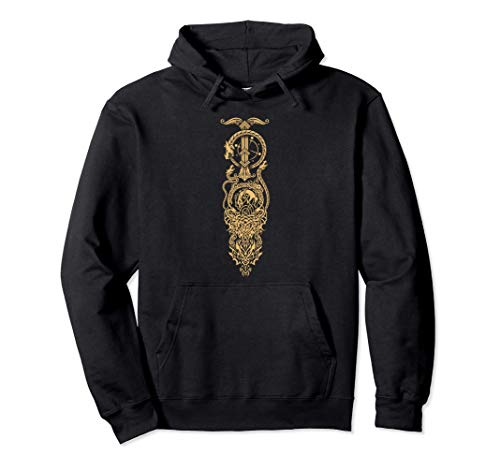 Tatuaggio vichingo di un drago celtico Felpa con Cappuccio