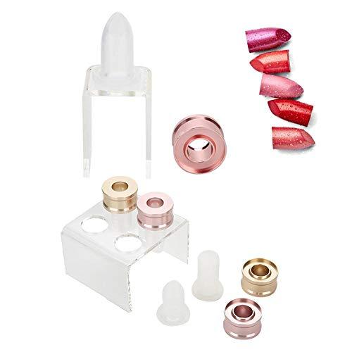 Stampo di rossetto, 12.1MM fai da te labbra balsamo fatto in casa balsamo labbra stampo cerchio artigianato trucco kit di strumenti cosmetici (02# Four Holes Set)