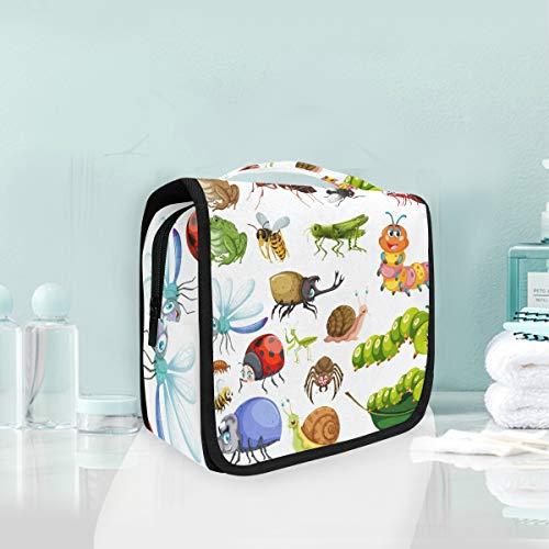 Beauty case da appendere con insetti, coccinella, ape, mantis, borsa per cosmetici da donna, ragazza, multifunzione, da viaggio