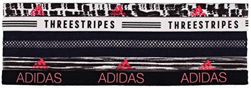 Adidas - Fascia per capelli Creator Plus, 5 pezzi, colore: Nero/Bianco/Rosso Flash, Dapple/Visionary, taglia unica