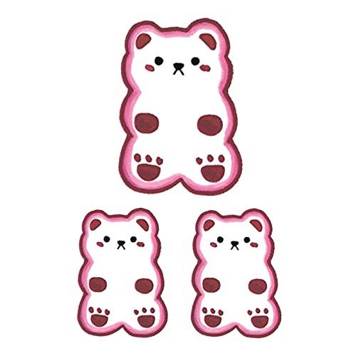 5 fogli rosa carino orsetto gommoso tatuaggio adesivo