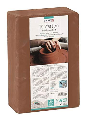 Glorex 68073005toepfer 5kg Argilla, Terracotta, 22x 15x 7cm