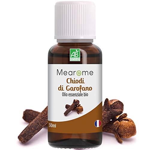 Olio Essenziale di Chiodi di Garofano Mearome | 100% Puro | Aromaterapia e Diffusori | Afte e Dolori Dentali | Digestione | Certificato OEBBD, OECT e Agricoltura Biologica