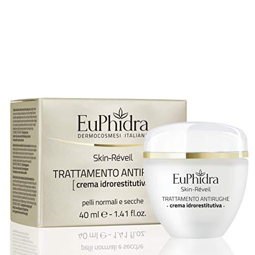 Euphidra Skin Réveil Trattamento Antirughe, Crema Idrorestitutiva, Pelli Normali e Secche - 40 ml.
