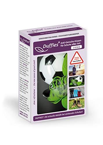Sacchetti Deodoranti per Scarpe e Borse, Eliminano gli Odori da Scarpe, Borse per la Palestra, con Carboni Attivi di Bambù, Sacchetti Purificanti per Aria, Duffies (2 x 150g) (Scarpette da Calcio)
