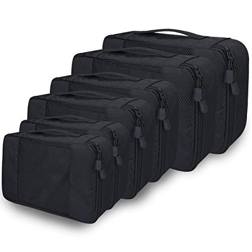 Organizer Valigia Set di 6 per Valigie, Viaggio Travel Organizer Bag Cubi da Viaggio,Perfetto di Viaggio dei Bagagli Organizzatore Adatto a viaggi/viaggi d'affari/all'aperto