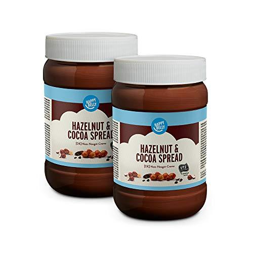 Marchio Amazon - Happy Belly Crema da spalmare alle nocciole e al cacao, 2 x 800g