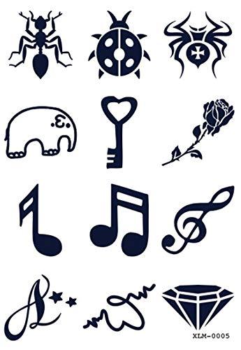 Juice Tattoo XLM0005 - Finto tatuaggio a forma di elefante, colore: Rosa