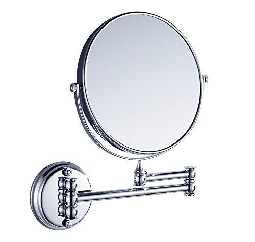 Eridanus Specchio Trucco da Bagno Parete Normale Specchio e Ingrandimento 3X Cosmetico da Trucco Adatto Girevole a 360° Estensibile Retroilluminato Bilaterale per Camera da Letto, Desktop, Argento