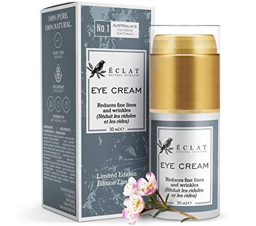 Creama Occhi Eclat – Crema idratante per zampe di gallina, gonfiore e occhiaie – con estratto di avena lenitiva – Collagene naturale – Antiossidanti –Crema occhi idratante antietà