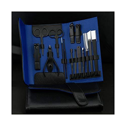 Kiki Set tagliaunghie Manicure Set Nail Set Nail Clipper Kit Professionale - in Acciaio Inox Pedicure Set Nail governare corredo con Il Caso for la Corsa Kit Pedicure e Manicure (Color : R)