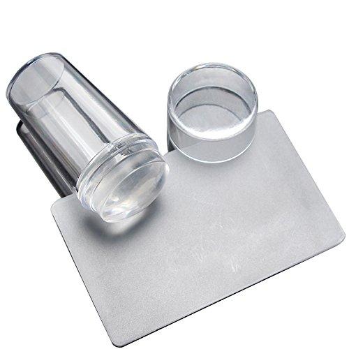 LUFA Strumento di manicure di stampo stampato polacco DIY Stampaggio stampo Stamper Scudo Stampaggio Nail Art
