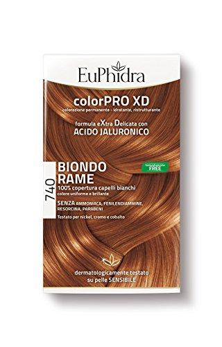 Euphidra Tinta Color Pro XD 740 Colorazione Permanente senza ammoniaca BIONDO RAME