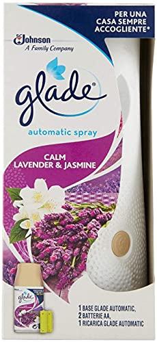 Glade Automatic Spray Profumatore per Ambienti Base con Ricarica, Fragranza Relaxing Zen, 1 Erogatore + 1 Ricarica 269 ml