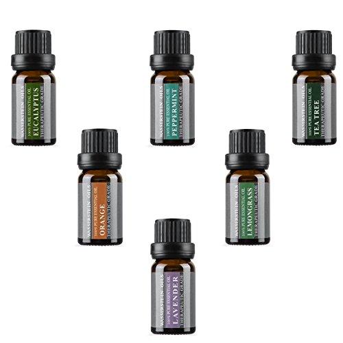 Wasserstein Aromaterapia Olio essenziale di base puro al 100% (Top 6, 10 ml) di Wasserstein