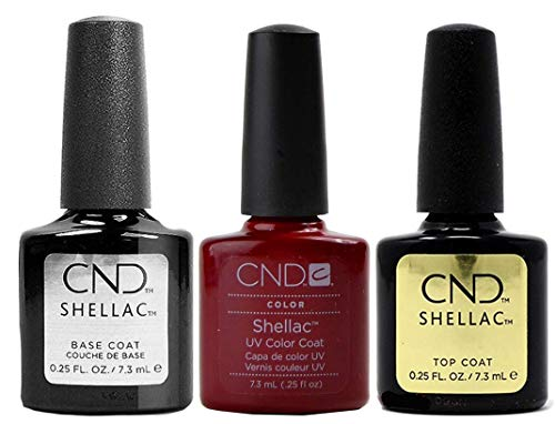 CND Original CND Shellac Decadence Plus Base Coat Plus Top Coat 7,3 ml, confezione da 1 (1 x 22 ml)