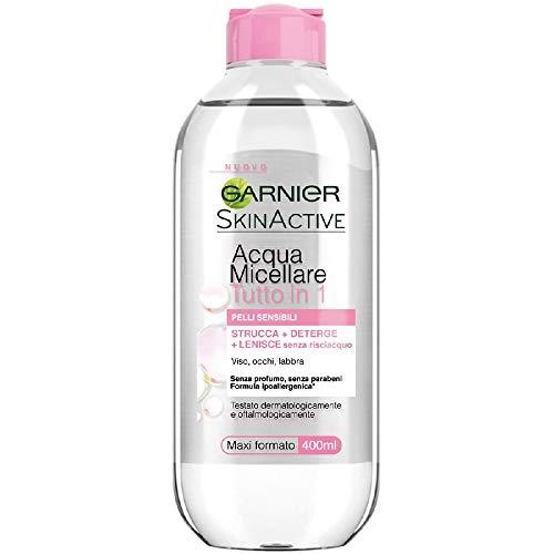 Garnier SkinActive, Acqua Micellare Tutto in 1, Pelli sensibili, Maxi formato, 400 ml