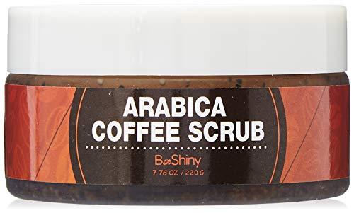 BeShiny Exfoliating Arabica Coffee Scrub - Best Skin Exfoliator per viso e corpo per la cura della pelle Acne Eczema Exfoliate idratare, smagliature Rug Wrinkles Spider Veins