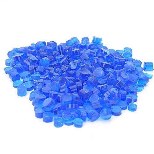 Fusione di vetro, vetro Millefiori rosso fusione termica smalto colorato kit blocco di vetro hot melt decorativo forno a microonde kit di strumenti gioielli fai da te per gioielli(Blu)