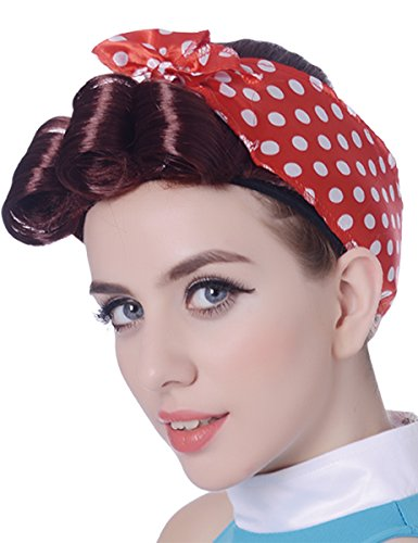 Generique - Parrucca Anni '50 con Foulard per Donna