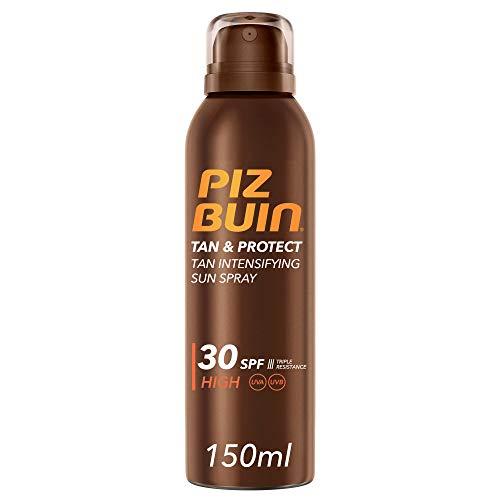 PIZ BUIN, Spray Solare Intensificatore dell'Abbronzatura, Tan & Protect, 30SPF, Protezione Alta, Filtro Solare UVA/UVB, 150ml