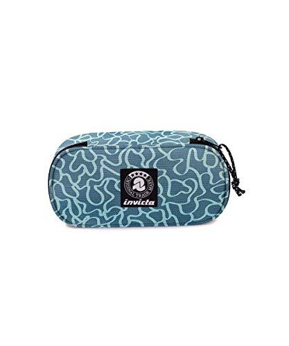 Portapenne INVICTA - LIP PENCIL BAG XL - Azzurro - Fantasia - Scomparto interno attrezzato