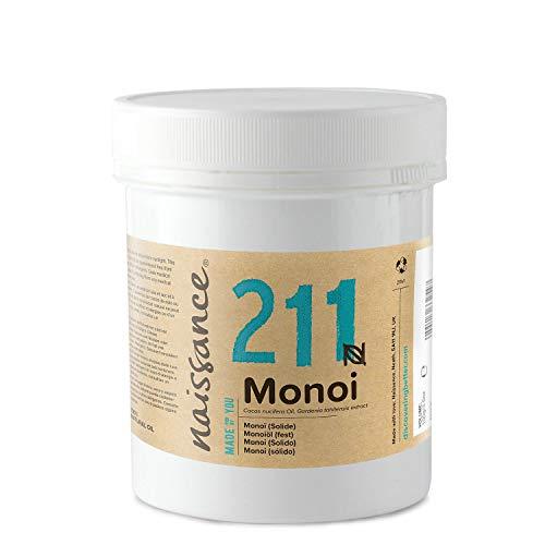 Naissance Olio di Monoi (Solido) - Olio Vegetale Puro al 100%, Vegano, senza OGM - 100g