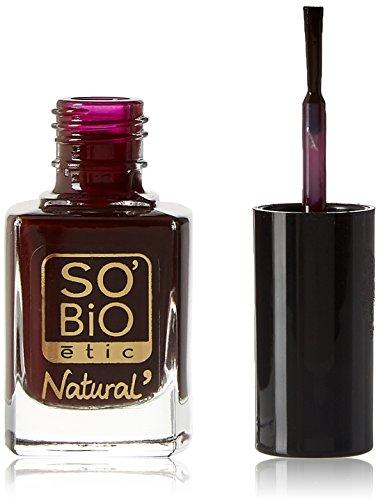 SO'BiO étic - Smalto per unghie, 07, colore: rosso velluto, 10 ml
