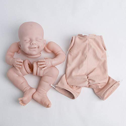 Reborn Doll Kit 55,9 cm Realistico Dormire Bambino Bambini Giocattolo Regalo di Compleanno Non Dipinto Arti Panno Corpo Non Tossico Simulazione Testa Del Vinile Divertente Fai da te Morbido Neonato