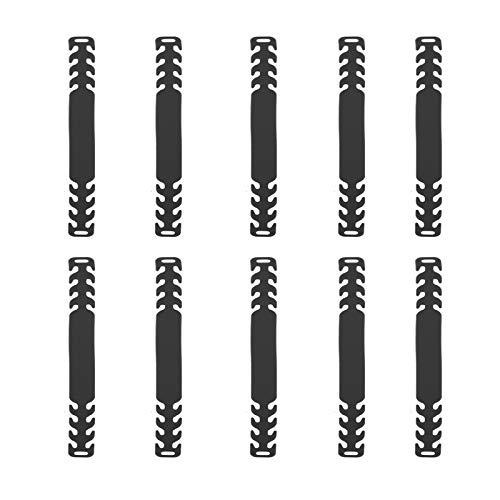 KATELUO Ganci Di Prolunga Regolabili,10 Pezzi Orecchio Antiscivolo Gancio,Cinghia di Estensione,Antiscivolo Gancio, Fibbia di Prolunga per Adulti, Bambini e Anziani (Nero)
