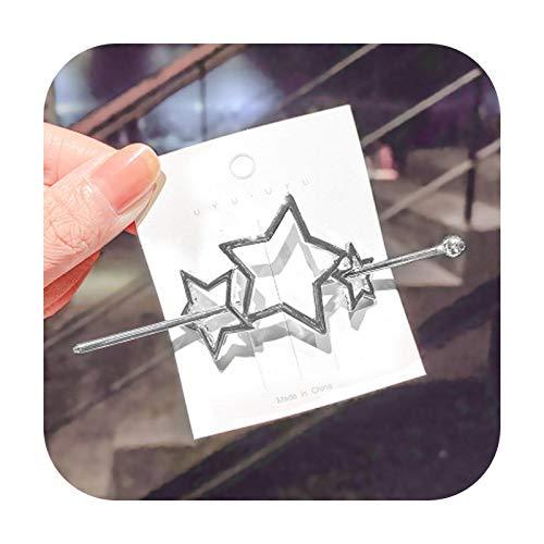 Nuovo Vintage Oro Argento Geometrico Farfalla Donne Bastoni Per Capelli Clip Di Capelli Eleganti Stile Dei Capelli Fendita-96