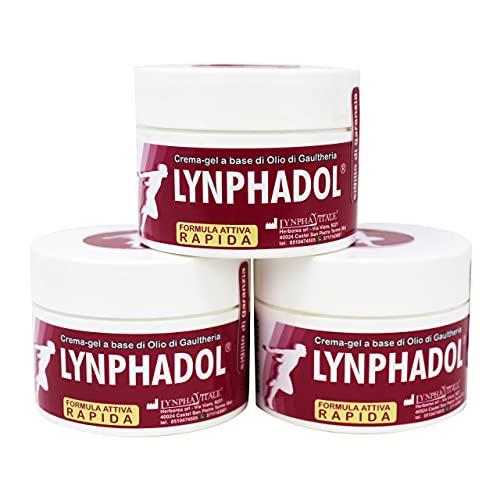 Lynphadol - Rimedio 100% naturale per Mal di schiena, dolori articolari, infiammazioni - Antidolorifico muscolare ideale per sportivi - Olio essenziale di Menta, Gaultheria, Eucalipto - 50 ml - 3 Confezioni
