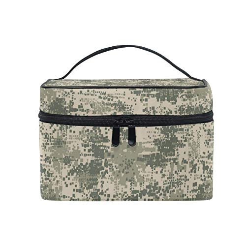 Borse per cosmetici Travel Makeup Cosmetic Bags Green Army Desert Digital Camo Toiletry Bags Makeup Suitcase For Women Travel Daily Carry