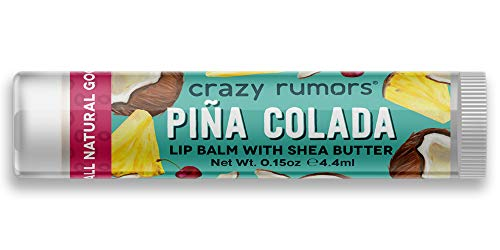 Crazy Rumors - Balsamo per labbra, sapore Pina Colada, 4 g, vegano, 100% naturale