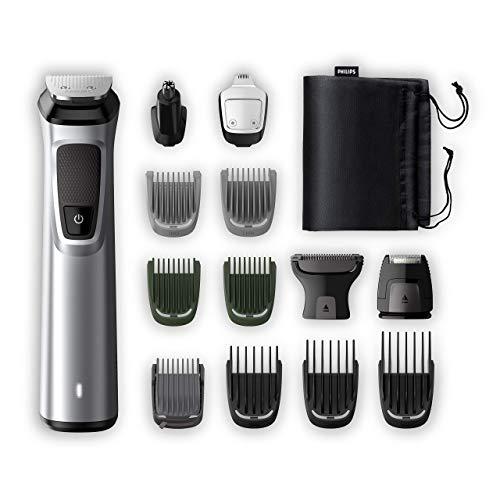 Philips Grooming Kit serie7000 MG7720/18 Tagliacapelli, Regolabarba uomo, Rifinitore Corpo/Naso/Orecchie, Premium, 14in1