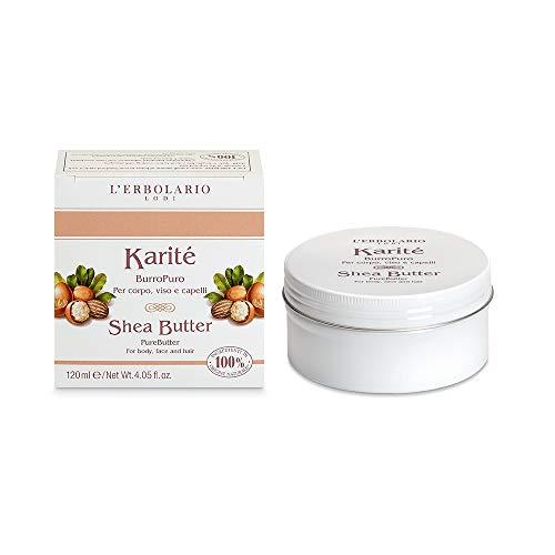 L'Erbolario Karitè Burro Puro Per Corpo, Viso E Capelli 120 ml Made In Italy 100% Naturale