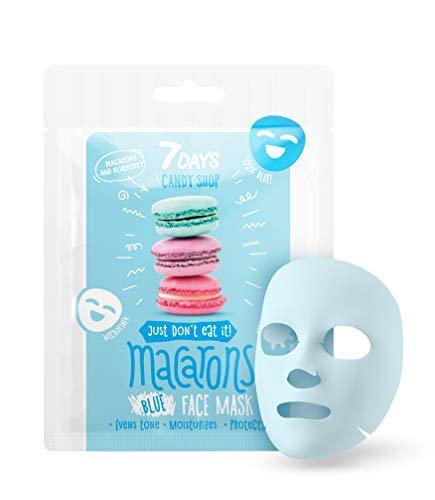 Maschera Viso in Tessuto 1 pezzo ai Mirtilli Yogurt Essenza di Latte Maschera di Microfibra Nutrizione Idratante per la Pelle Stanca 25g | 7DAYS