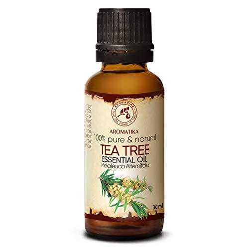 Olio Essenziale di Albero del Tè 30ml - Melaleuca Alternifolia - Australia - Naturale e Puro al 100% - Rilassamento - Diffusore - Lampade per Aromaterapia - Tea Tree Oil Essential