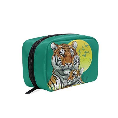 Mnsruu - Beauty case Tiger da viaggio per cosmetici e articoli da toeletta