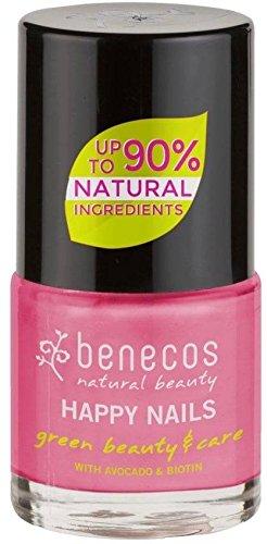 BENECOS - Smalto Rosa Bubble - Delicato - Biotina e Avocado - Senza formaldeidi dannosi o colofonia - Senza toluene, ftalati e canfora - Vegan - 9ml