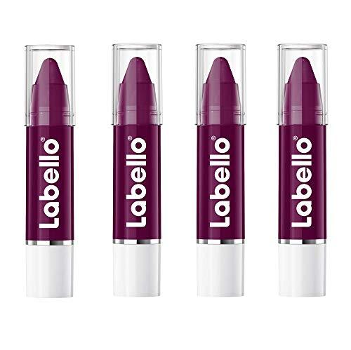 Labello Crayon Balsamo Labbra Colorato Blackcherry, 1 Lipstick, Matitone Labbra Colora e Idrata, Senza Oli Minerali e Parabeni