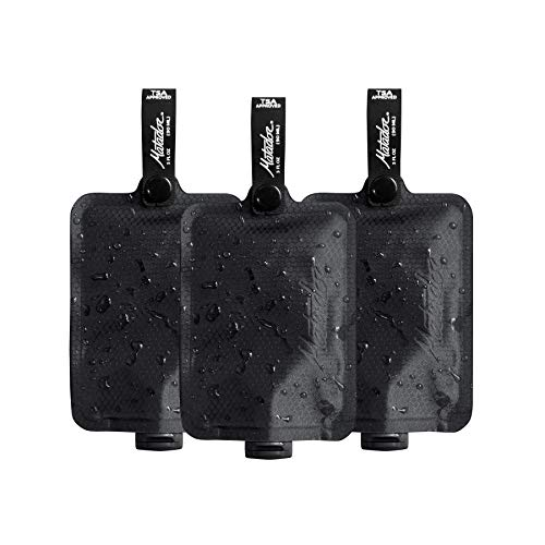 MATADOR FlatPak Toiletry Bottle 3pk Beauty Case, 10 cm, 0,09 liters, Nero (Black)