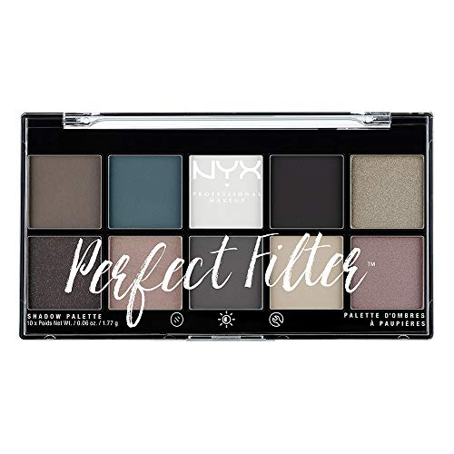 NYX Professional Makeup Palette Ombretti Perfect Filter, 10 Ombretti, Gloomy Days