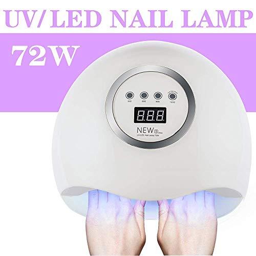 Lampada-UV-LED-Unghie-Professionale Asciuga Unghie 72W Lampade per Manicure Pedicure con 4 Timer Display LCD Lampada per Gel