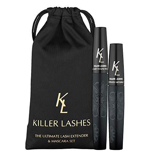 KL Killer Lashes, Set Allunga Ciglia Ultimate e Mascara da 9 ml e 6 ml, 3D Moonstruck Black Limited Edition, con Borsetta da Viaggio