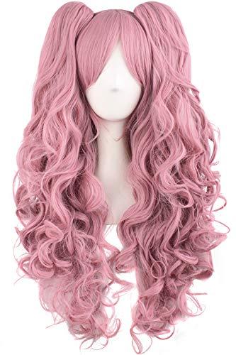 MapofBeauty 28'/70cm Lungo Ricci Donna Intrecciato Parrucche (Rouge Rosa)