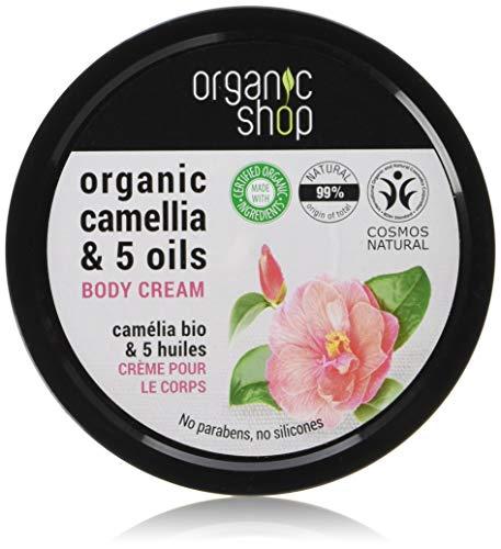 Organic Shop giapponese camelie e 5oli crema corpo, 250ml