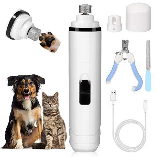 Fostoy Smerigliatrice per Unghie per Cani, Smerigliatrice per Lime per Animali Domestici, Tagliaunghie per Cani Ricaricabili USB Ultra Silenziose Cura degli Artigli per Animali Domestici