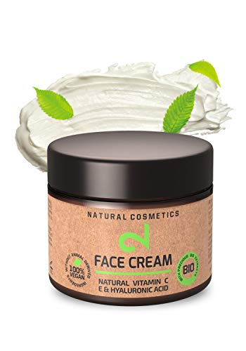 DUAL Day & Night Face Cream|Crema Viso Giorno e Notte 100% Naturali e Vegana|Vitamina C e Acido Ialuronico|Microalghe e broccoli|Crema Anti età|Idratazione cutanea|Certificato|50 ml|Fatto in Germania