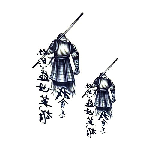 Warrior Krieger Samurai - Tatuaggi cinesi 'Forever Hero' HB165X